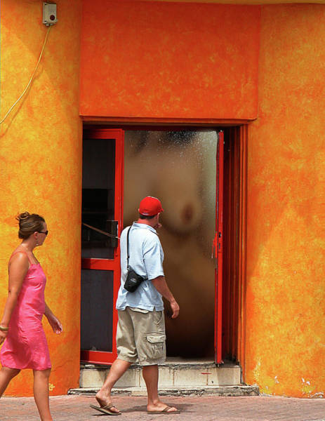 Photograph - Doorway Undressing by Harry Spitz