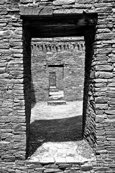 Photograph - Doorways Of The Ancients Black And White by Adam Jewell