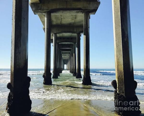Scripps Pier Photograph - Doorways To The Sea by Maria Pogoda