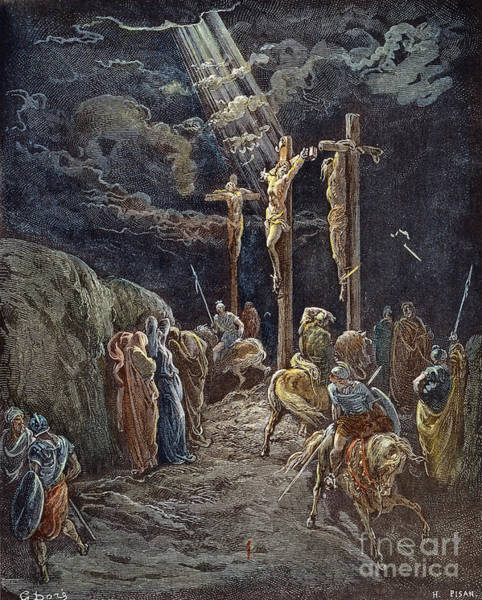 Wall Art - Drawing - Crucifixion by Gustave Dore