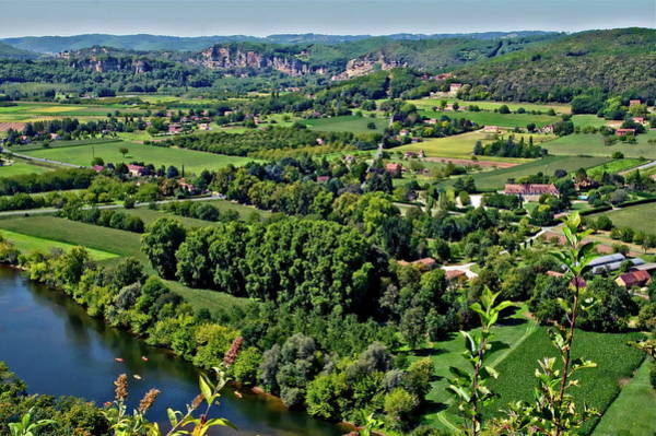 Photograph - Dordogne Landscape View by Anthony Dezenzio