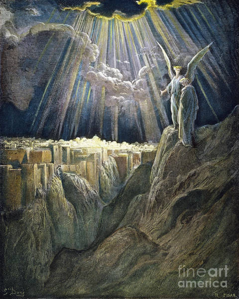 Drawing - New Jerusalem by Gustave Dore