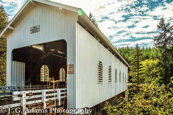 Photograph - Dorena Covered Bridge by Jim Adams