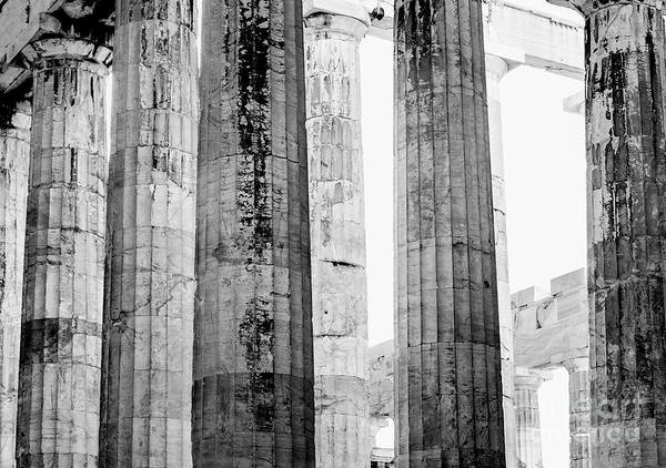 Wall Art - Photograph - Doric Columns In Black And White by Jason Knott