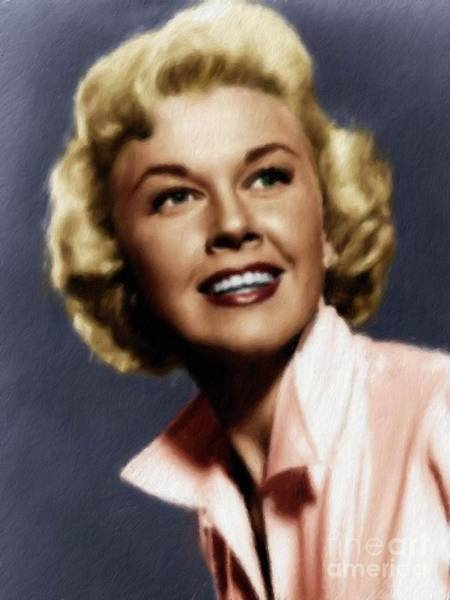 Wall Art - Painting - Doris Day, Actress by Mary Bassett