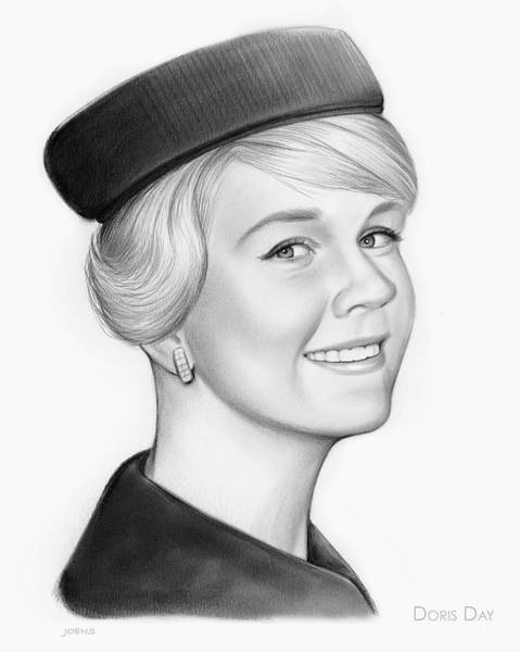 Actress Drawing - Doris Day by Greg Joens