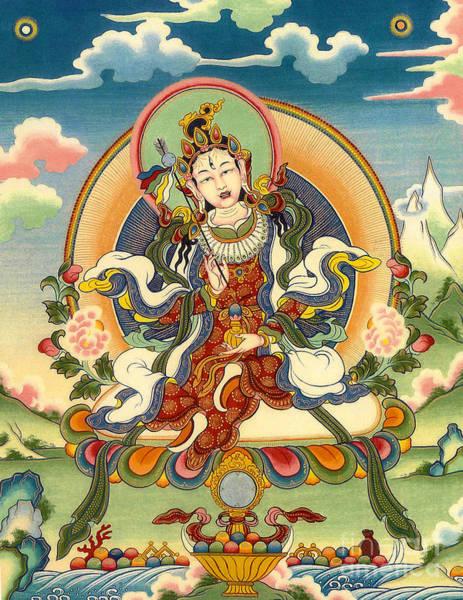 Thangka Painting - Dorje Yudronma by Sergey Noskov
