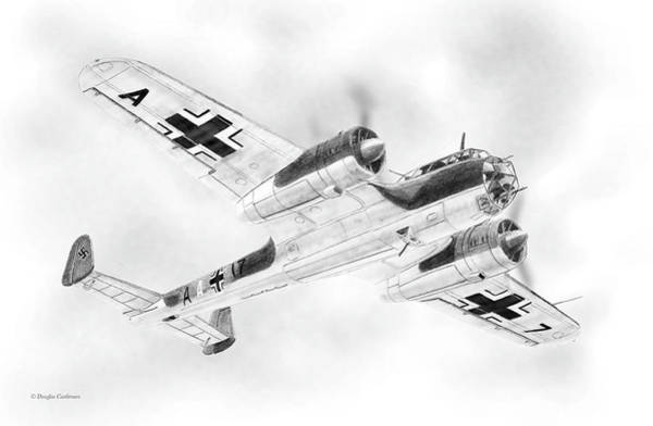Drawing - Dornier Do17z  by Douglas Castleman