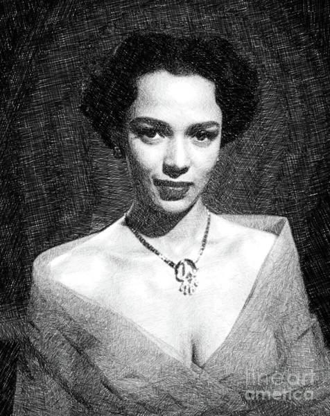 Dorothy Dandridge, Actress, Dancer, Singer By Js Art Print