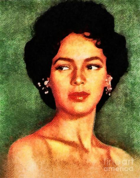 Stardom Painting - Dorothy Dandridge, Vintage Hollywood Legend by John Springfield