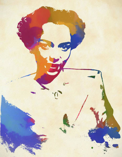Child Actress Painting - Dorothy Dandridge Watercolor by Dan Sproul