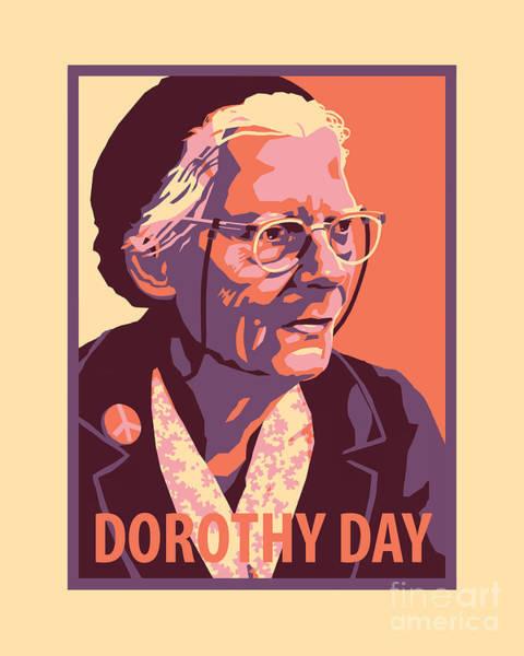 Painting - Dorothy Day, Elder - Jldde by Julie Lonneman