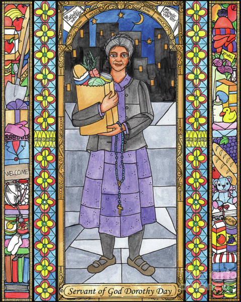 Painting - Dorothy Day, Servant Of God by Brenda Nippert