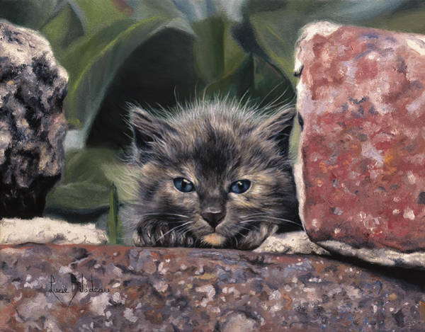 Kitten Wall Art - Painting - Dorothy Parker by Lucie Bilodeau