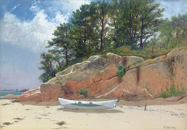 Wall Art - Painting - Dory On Dana's Beach by Alfred Thompson Bricher