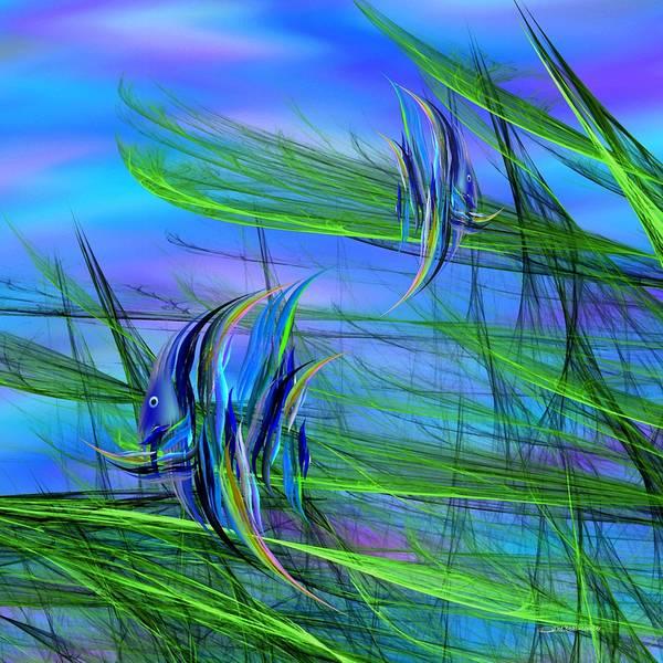 Digital Art - Dos Pescados En Salsa Verde by Wally Boggus