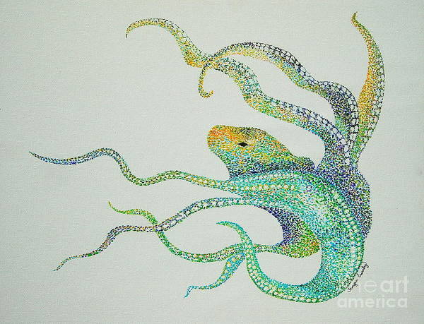 Painting - Dot Octopus by Tamyra Crossley