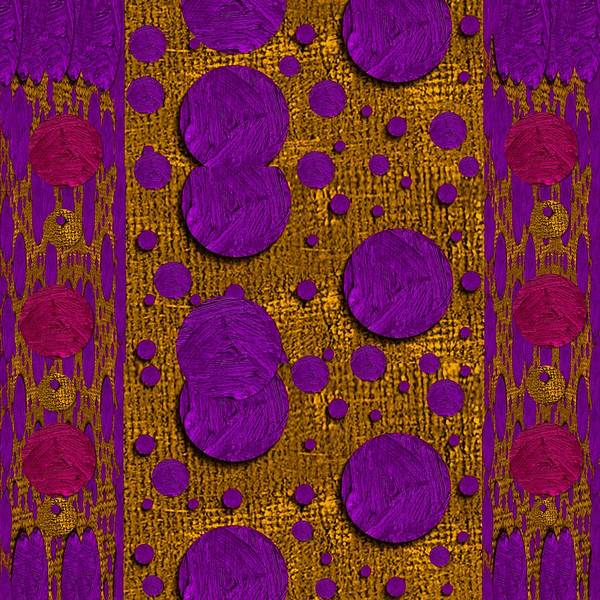 Thread Mixed Media - Dots Dripping And Dropping In A Decorative Style by Pepita Selles