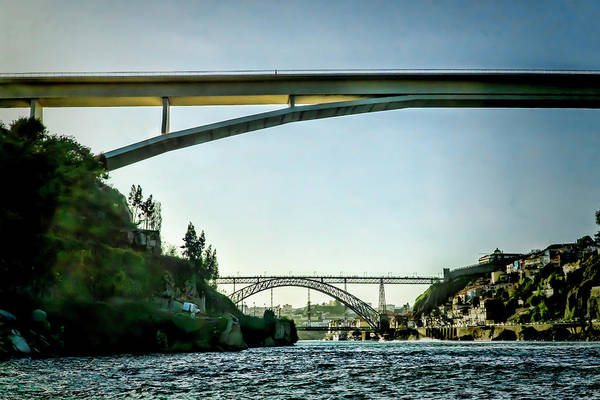 Photograph - Double Bridge Scene In Porto by Sven Brogren