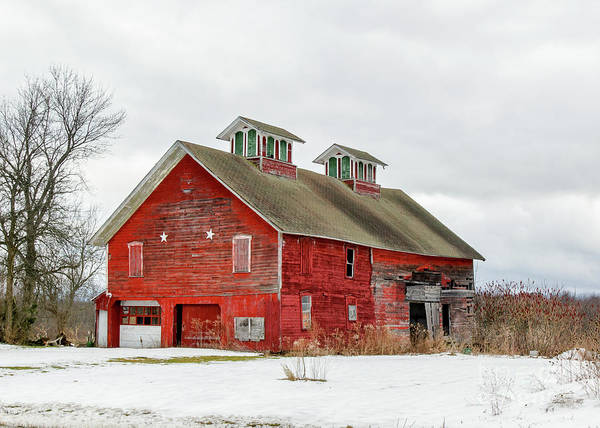Photograph - Double Cupola Barn by Rod Best