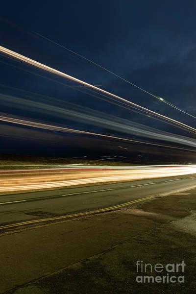 Photograph - Double Decker Light Streaks by Clayton Bastiani