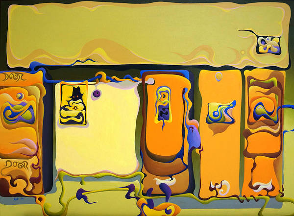 Painting - Double Door Power Play by Amy Ferrari