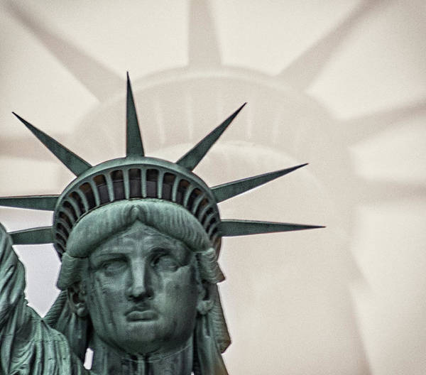 Lady Liberty Photograph - Double Exposure Liberty by Martin Newman