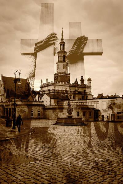 Photograph - Double Exposure Poznan Poland by Jacek Wojnarowski