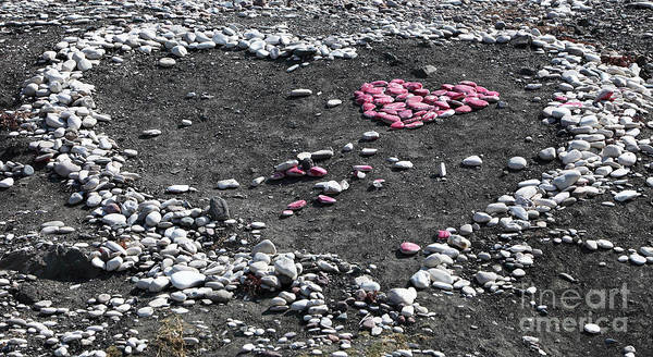 Photograph - Double Heart On The Beach by John Rizzuto
