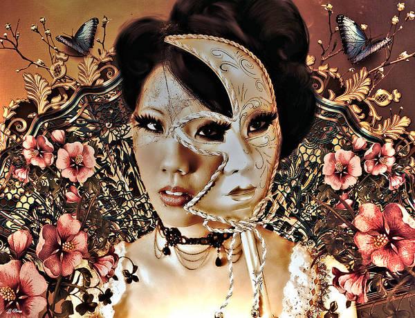 Geisha Mixed Media - Double Life Of The Geisha Girl by G Berry