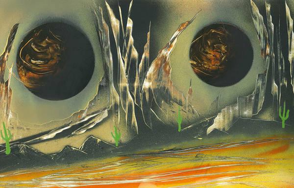Painting - Double Moon Desert by Jason Girard