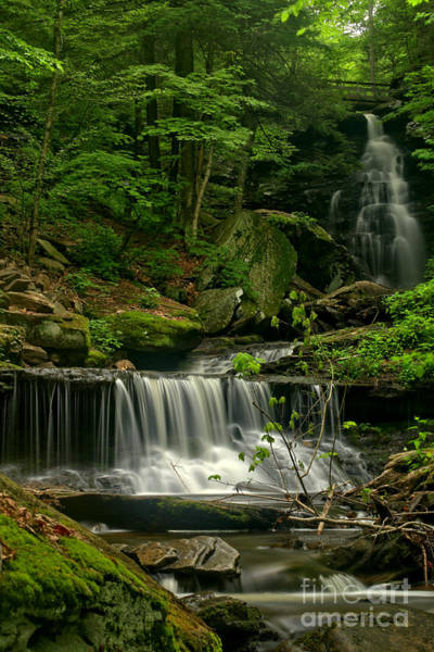 Triple Falls Photograph - Double Ozone Falls by Adam Jewell