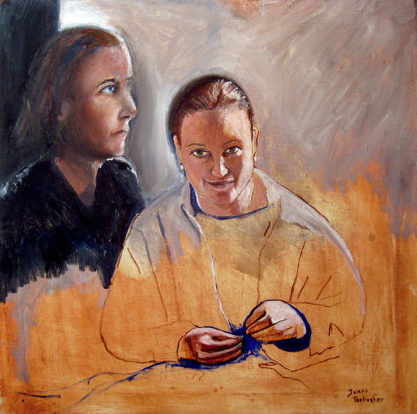 Wall Art - Painting - Double Portrait by James Gallagher