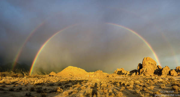 Photograph - Double Rainbow Gold by Gaelyn Olmsted