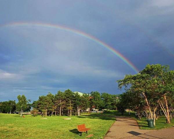 Photograph - Double Rainbow Over Nut Island Quincy Ma by Toby McGuire
