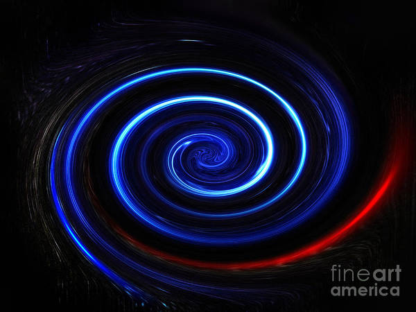 Whirlwind Digital Art - Double Spiral. Dancing Energy by Sofia Metal Queen