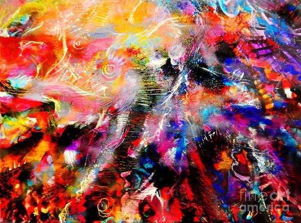 Dominate Painting - Double Sun by Expressionistart studio Priscilla Batzell