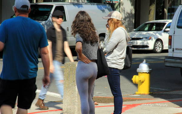 Tight Pants Photograph - Double Take by Bill Ryan