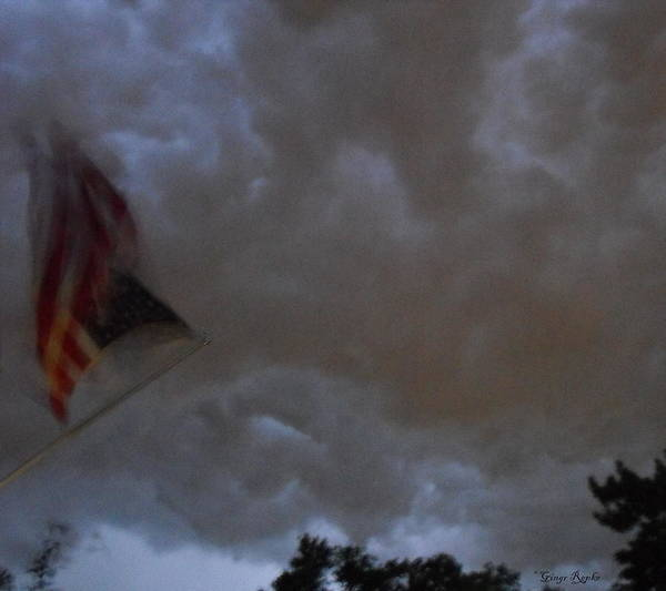 Saint Louis County Photograph - Double Tipped Storm Flag by Ginger Repke