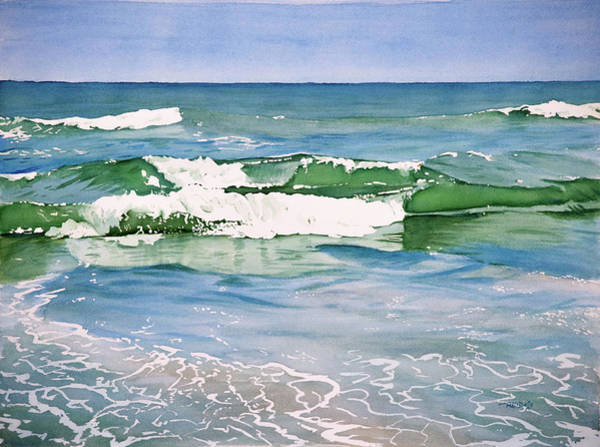 Painting - Double Wave by Christopher Reid