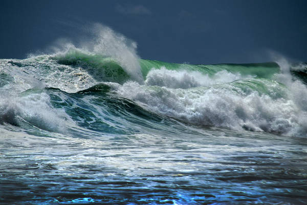 Photograph - Double Wave by Frank Wilson