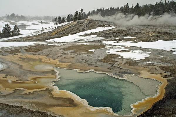 Photograph - Doublet Pool Hot Spring In Winter by NaturesPix