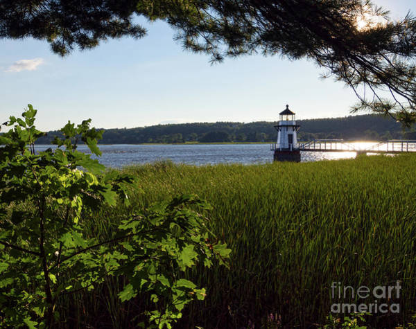 Photograph - Doubling Point Light On The Kennebec River, Arrowsic Me #40033 by John Bald