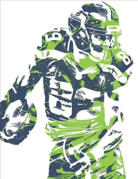 Wall Art - Mixed Media - Doug Baldwin Seattle Seahawks Pixel Art 5 by Joe Hamilton