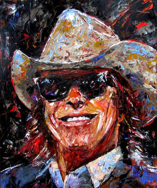 Wall Art - Painting - Doug Sahm by Debra Hurd