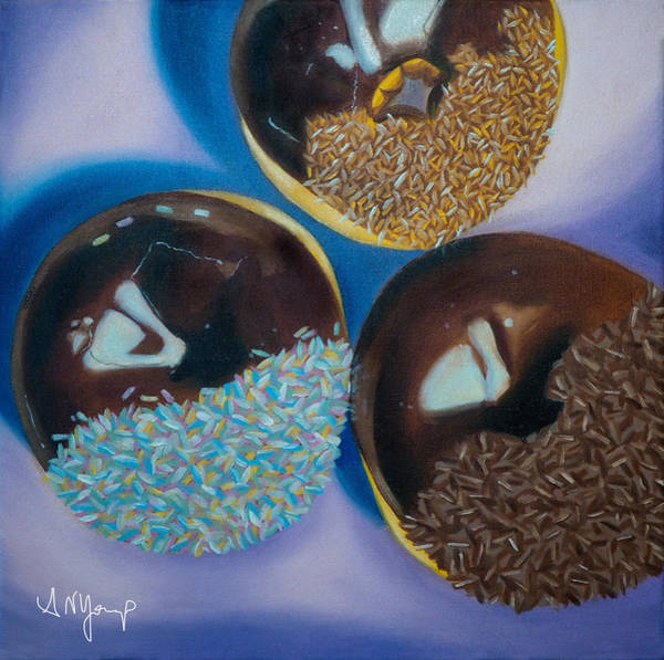 Doughnut Painting - Doughnuts by Aimee Youngs