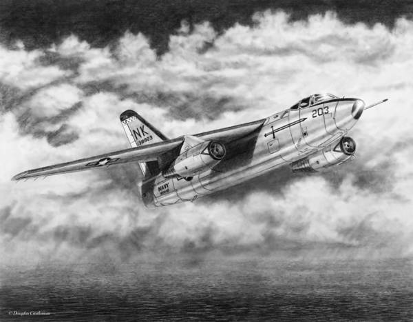 Drawing - Douglas A-3 Skywarrior by Douglas Castleman