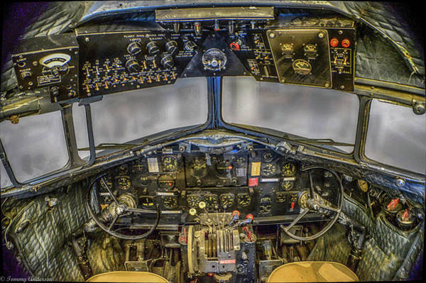 Wall Art - Photograph - Douglas C-47 Skytrain Cockpit by Tommy Anderson
