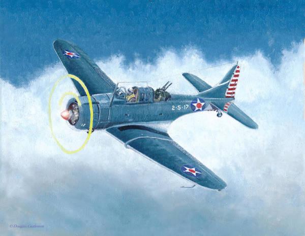 Painting - Douglas Sbd-3 Dauntless by Douglas Castleman