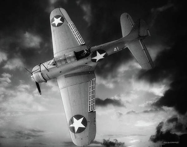 Photograph - Douglas Sbd Dauntless Black And White by Coleman Mattingly